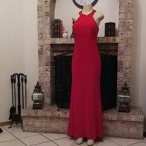 Jump Apparel Halter Top Prom Dress